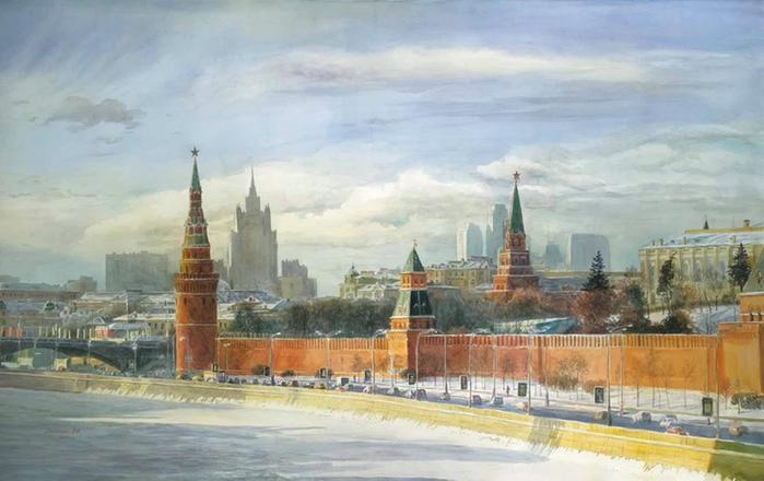 Любовь-Лесохина.-Московская-панорама (700x440, 200Kb)
