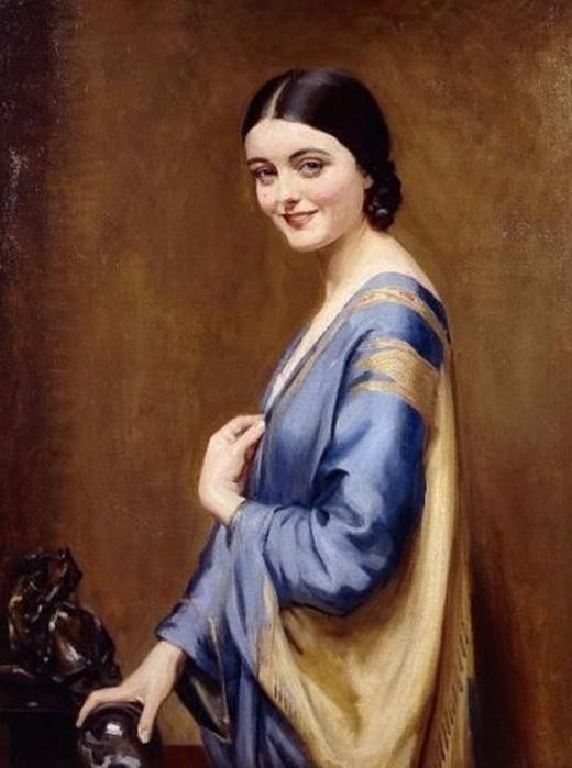Синее и золотое платье (520x700, 285Kb)