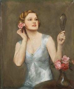 Женщина с зеркалом (236x286, 45Kb)