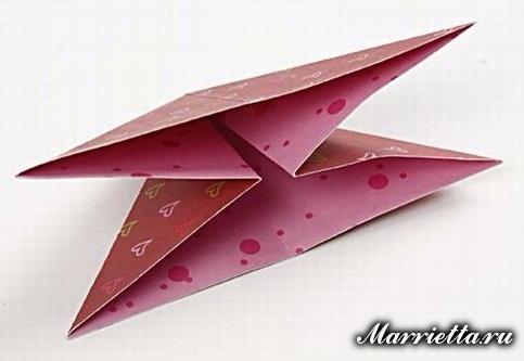 Новогодняя открытка с елочкой в технике оригами (3) (483x333, 105Kb)