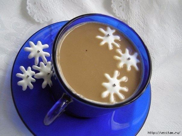 снежинки к кофе (604x453, 138Kb)