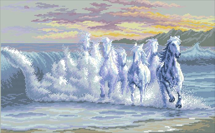 Вышивка бисером картины море 38