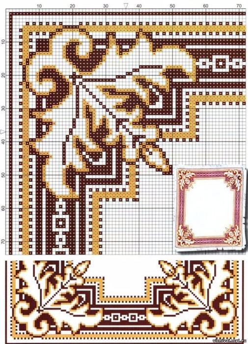 Бесплатные схемы вышивки салфеток 21