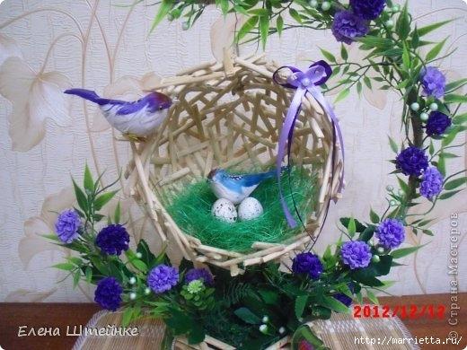 Гнезда с птичками своими руками
