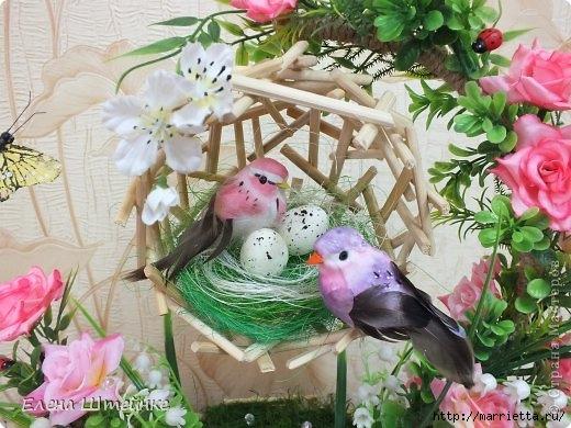 Птичье гнездышко из деревянных палочек. Мастер-класс (7) (520x390, 165Kb)