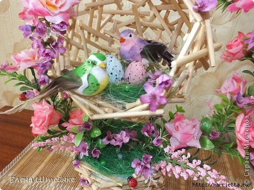 Птичье гнездышко из деревянных палочек. Мастер-класс (11) (520x390, 173Kb)