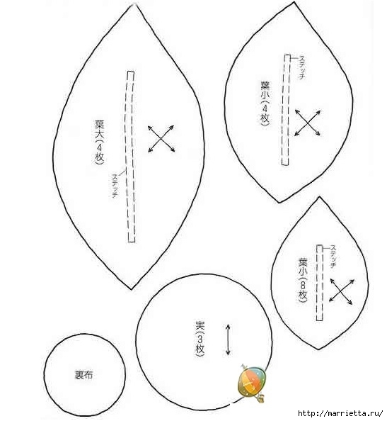 ПОДСОЛНУХИ из ткани (4) (547x594, 94Kb)