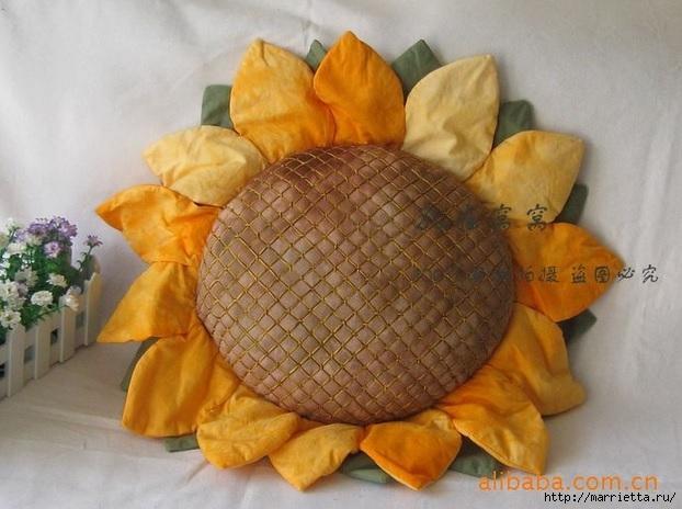 цветы подсолнуха из ткани (4) (622x464, 171Kb)