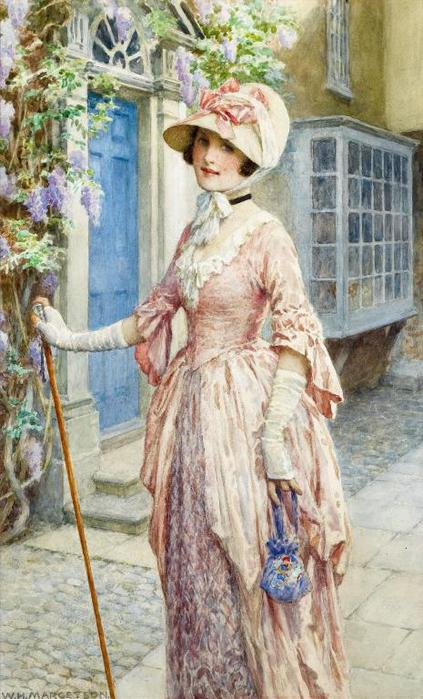 William Henry Margetson A LADY OF QUALITY (423x700, 66Kb)