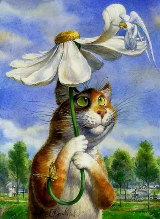 коты в искусстве Владимир Румянцев петербургские коты 9 (512x700, 391Kb)