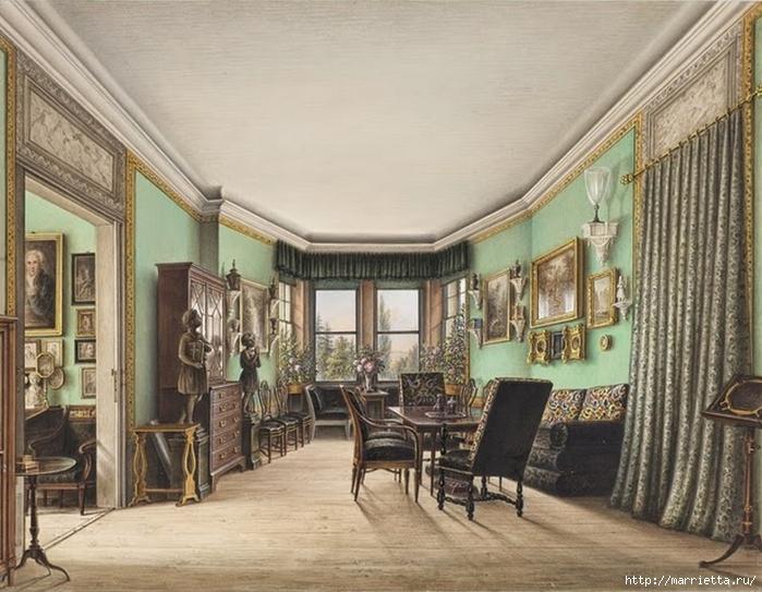 Дизайн интерьера. Романтика 19-го века. Акварель (1) (700x543, 288Kb)