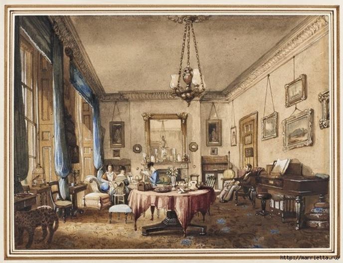 Дизайн интерьера. Романтика 19-го века. Акварель (2) (688x527, 253Kb)
