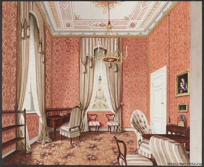 Дизайн интерьера. Романтика 19-го века. Акварель (4) (700x571, 348Kb)