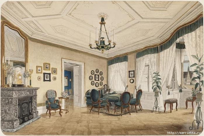 Дизайн интерьера. Романтика 19-го века. Акварель (6) (700x465, 270Kb)