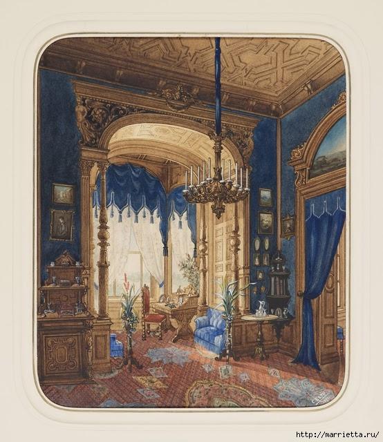 Дизайн интерьера. Романтика 19-го века. Акварель (15) (554x640, 263Kb)