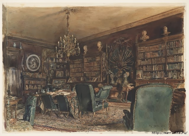 Дизайн интерьера. Романтика 19-го века. Акварель (17) (640x461, 205Kb)