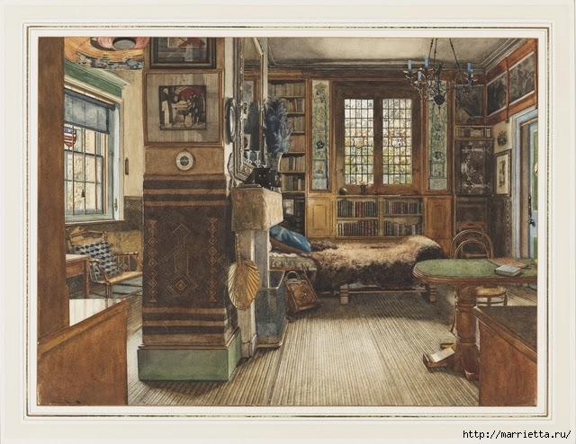 Дизайн интерьера. Романтика 19-го века. Акварель (19) (640x494, 227Kb)