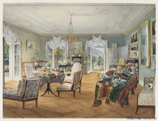 Дизайн интерьера. Романтика 19-го века. Акварель (21) (640x492, 227Kb)