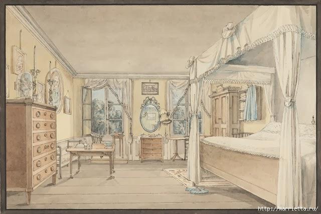 Дизайн интерьера. Романтика 19-го века. Акварель (23) (640x428, 165Kb)