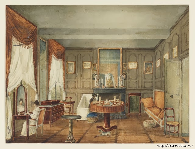 Дизайн интерьера. Романтика 19-го века. Акварель (25) (640x487, 202Kb)