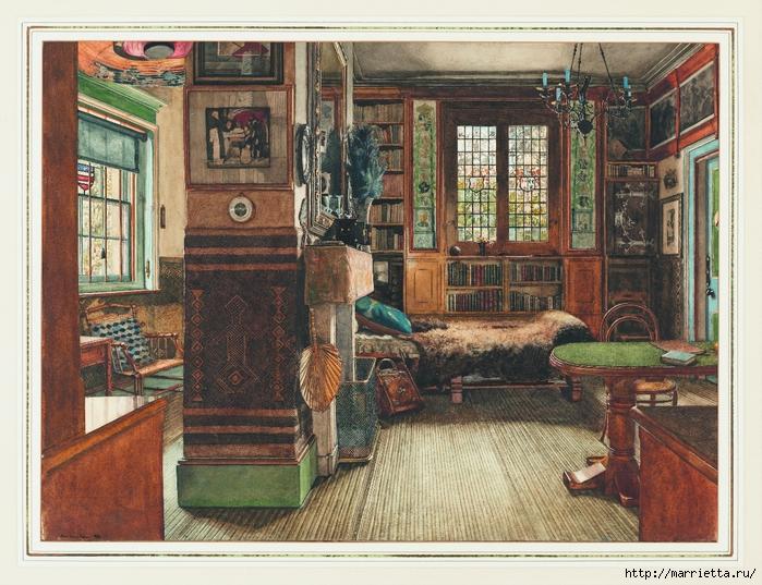Дизайн интерьера. Романтика 19-го века. Акварель (27) (700x537, 371Kb)
