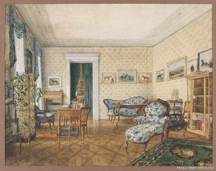Дизайн интерьера. Романтика 19-го века. Акварель (29) (700x554, 296Kb)