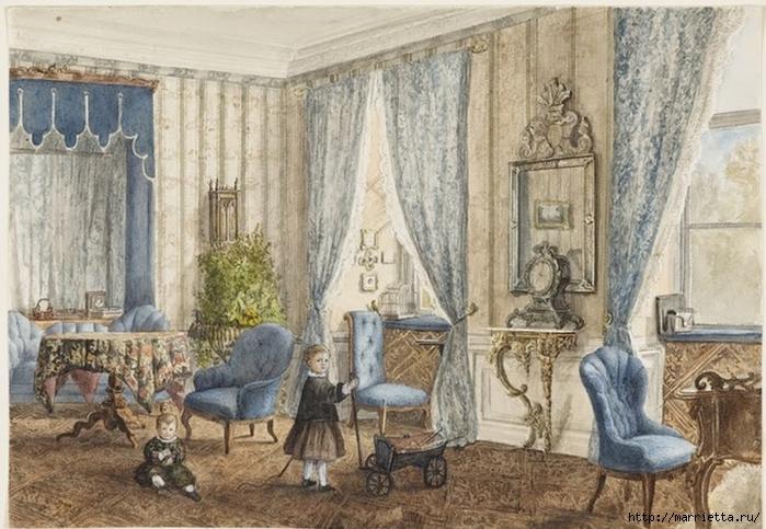 Дизайн интерьера. Романтика 19-го века. Акварель (31) (700x483, 289Kb)