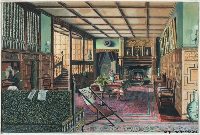 Дизайн интерьера. Романтика 19-го века. Акварель (32) (700x471, 378Kb)