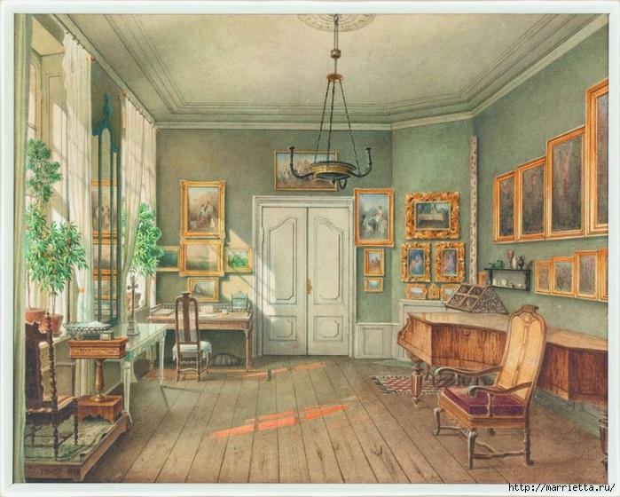 Дизайн интерьера. Романтика 19-го века. Акварель (33) (700x560, 317Kb)