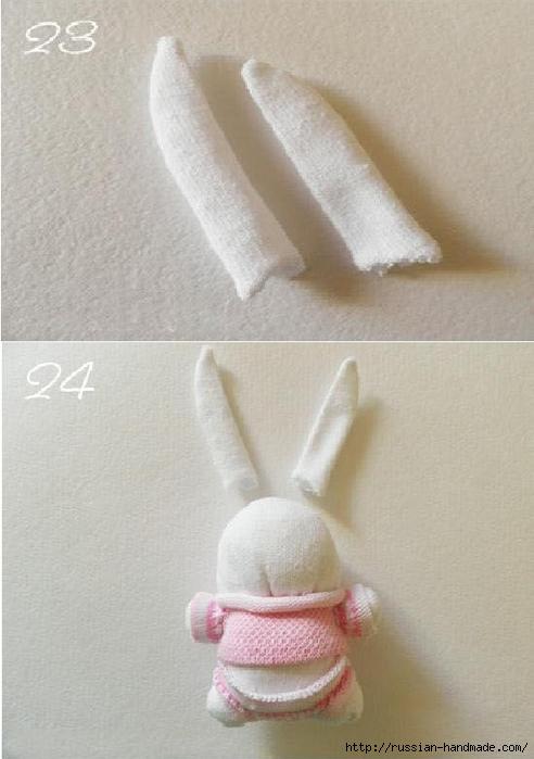 Шьем игрушки из носков. Прикольные ЗАЙЦЫ (1) (492x700, 187Kb)