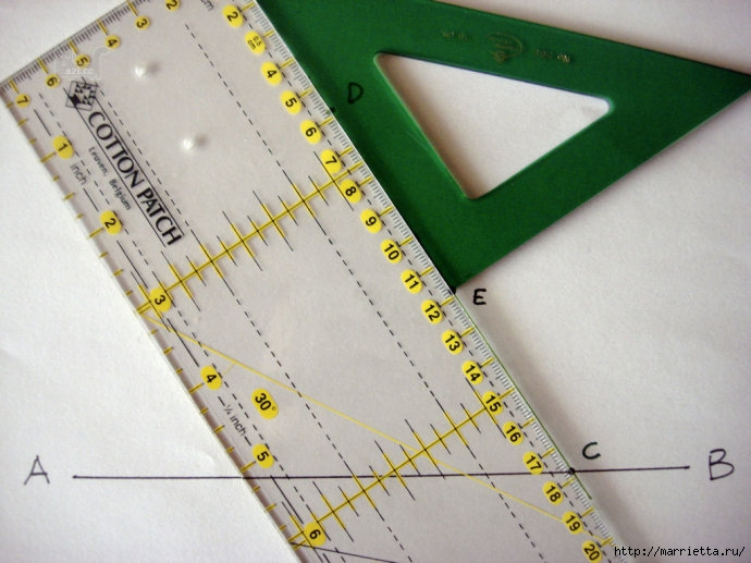 Урок лоскутного шитья. Блок ВЕРТУШКА (11) (690x517, 201Kb)