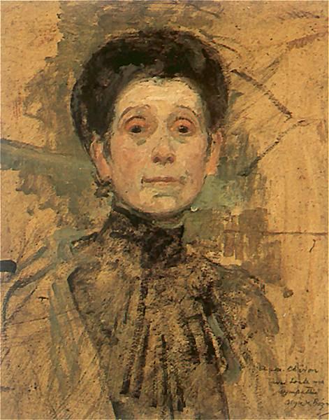 Ольга Бознаньска Автопортрет 1909 г. (471x600, 271Kb)