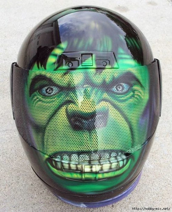 Cool-Green-Monster-Bike-Helmet (567x700, 336Kb)