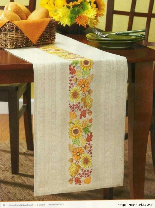 Летняя цветочная вышивка для скатерти (1) (521x700, 288Kb)