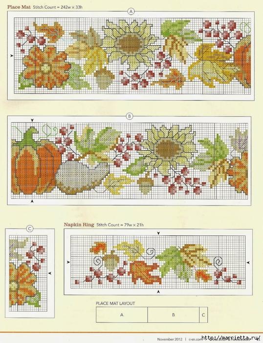 Летняя цветочная вышивка для скатерти (3) (538x700, 353Kb)