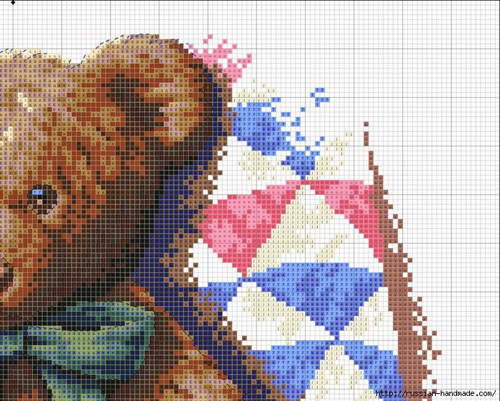 Схема вышивки Медвежонок с Котятами (2) (700x562, 368Kb)