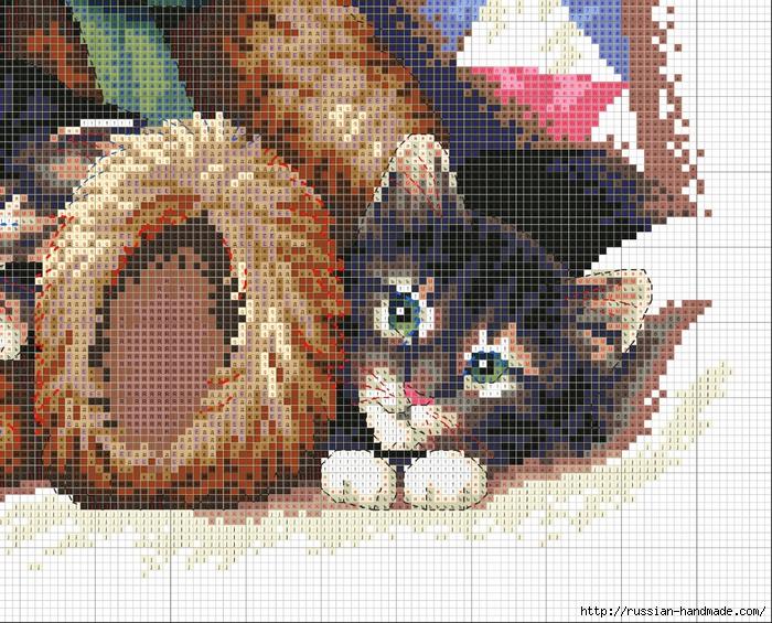 Схема вышивки Медвежонок с Котятами (4) (700x565, 444Kb)