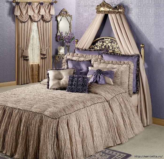 Текстиль в спальне. Шикарные идеи (14) (700x680, 514Kb)