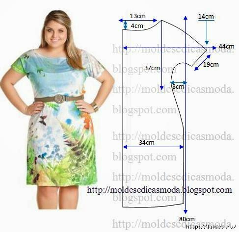Платье больших размеров своими руками быстро