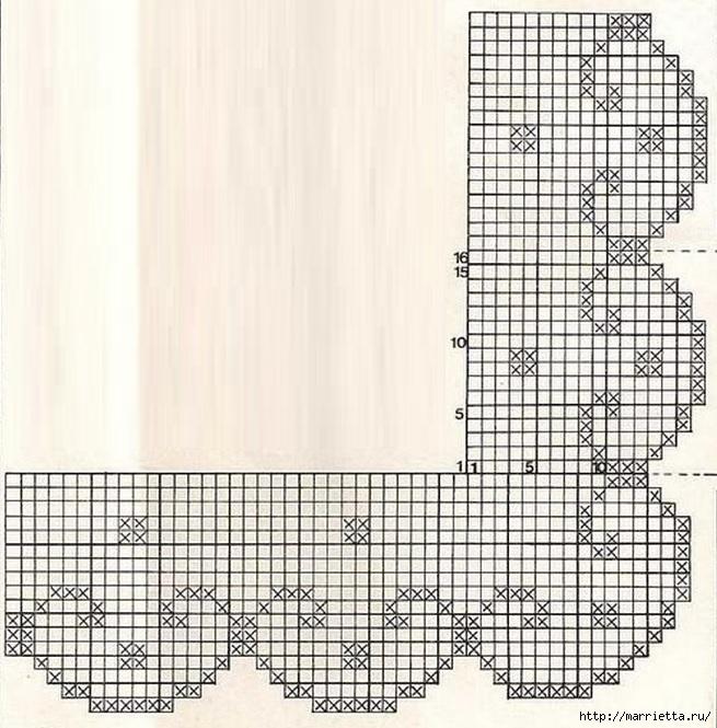 ПОКРЫВАЛО. Вязание крючком (3) (655x665, 274Kb)