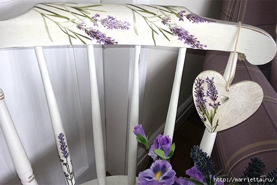 Веточки лаванды на кухонном стуле (3) (550x368, 178Kb)