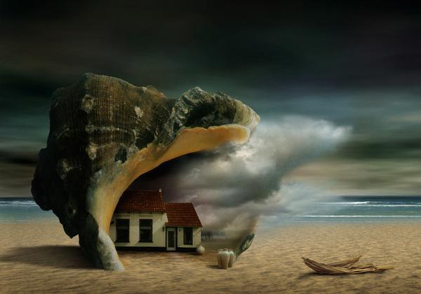 Ben Goossens - Tutt'Art@ (39)Refuge à la mer (600x420, 128Kb)