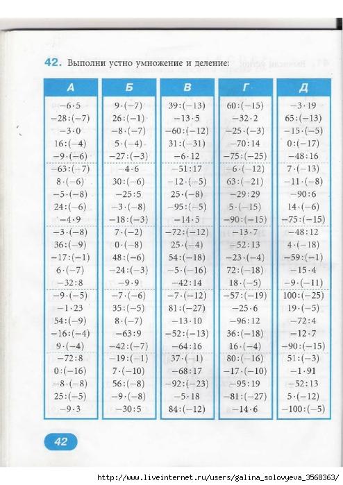 Решебник По Математическому Тренажёру 6 Класс