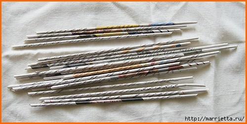 Плетение из газет. Оплетаем коробку (3) (500x251, 110Kb)