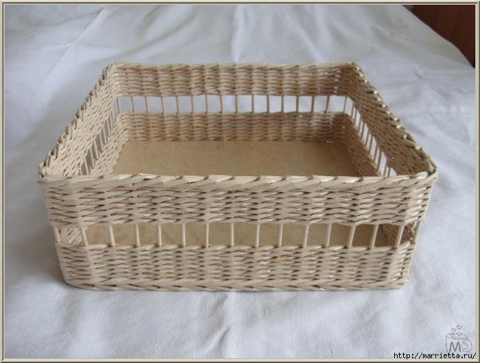 Плетение из газет. Оплетаем коробку (13) (700x528, 234Kb)
