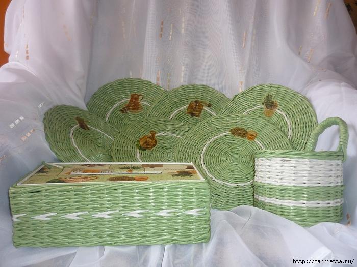 Плетение из газет. Оплетаем коробку (15) (700x525, 284Kb)