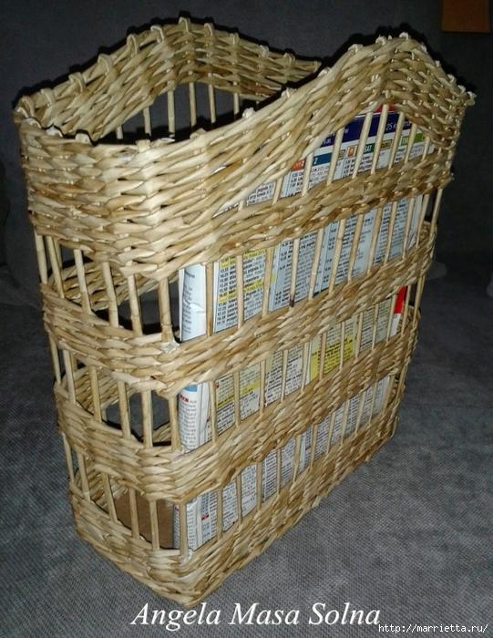 прямоугольные коробки из газетных трубочек (14) (541x700, 353Kb)