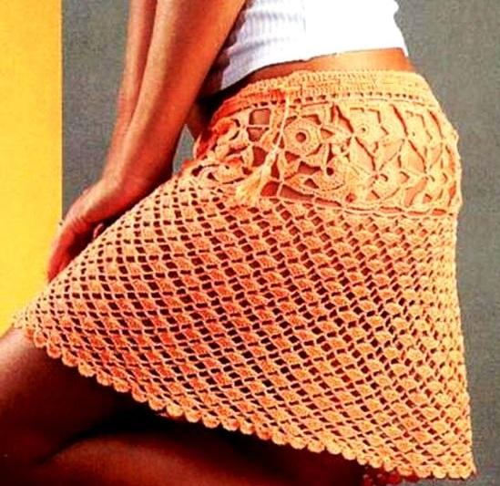 Вязание летней юбки крючком видеоурок