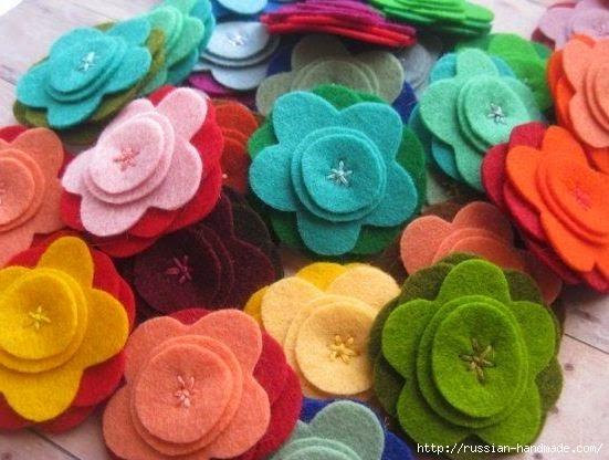 цветы из фетра (7) (551x416, 140Kb)
