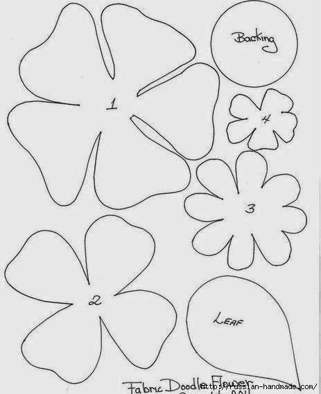 цветы из фетра (9) (463x569, 88Kb)
